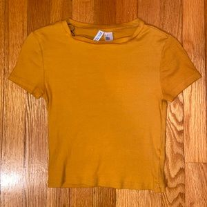 Yellow Cropped Shirt